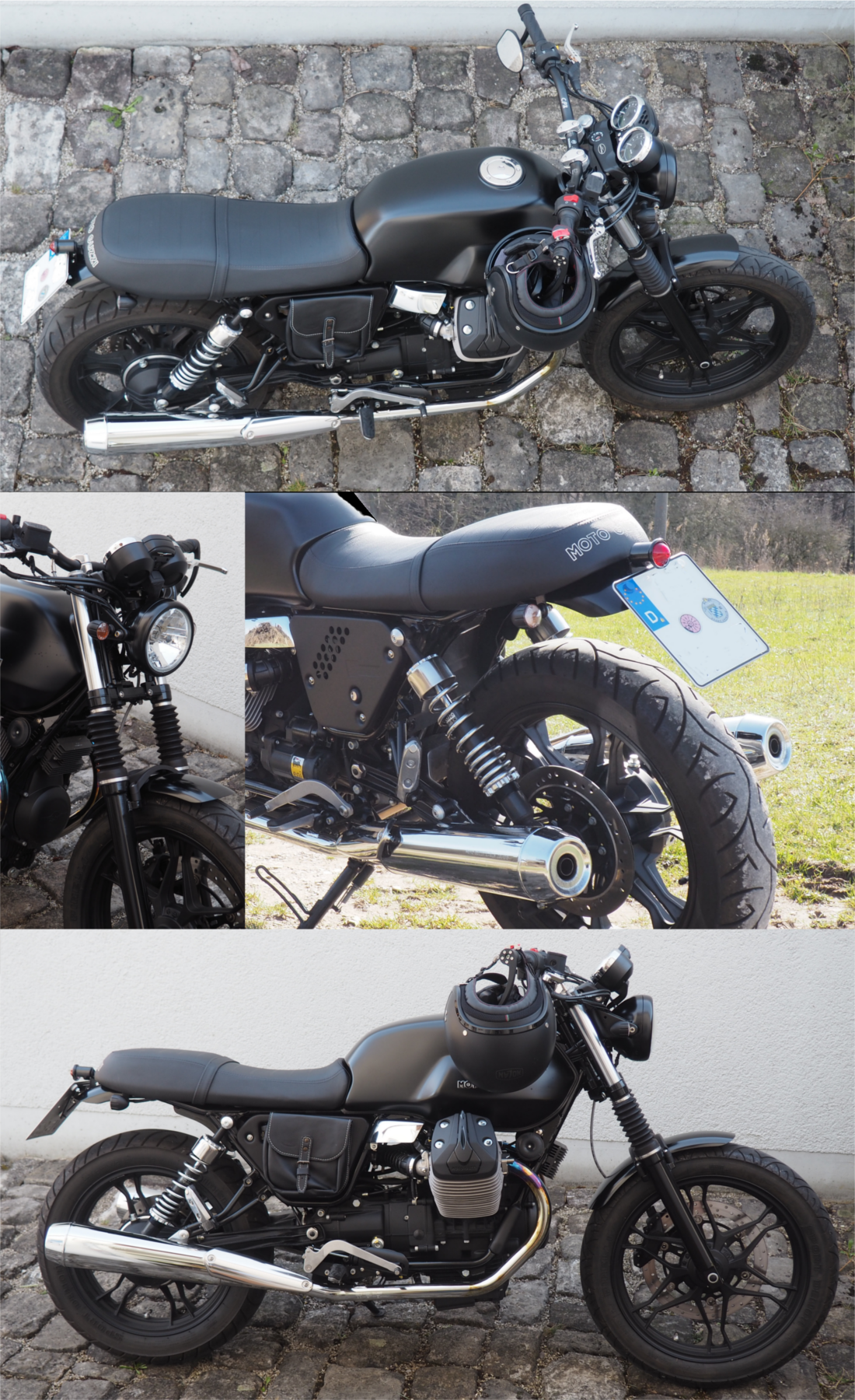 Moto Guzzi V7 Stone 2013 Custom Cafe Racer Cafe Racers Moto
