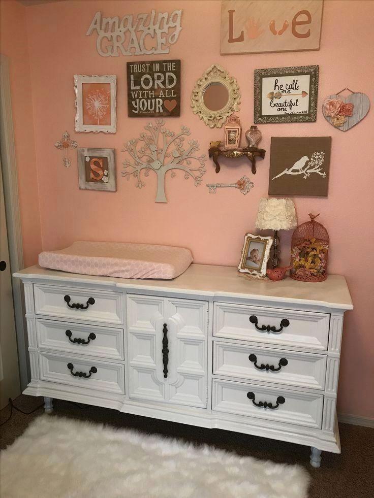 Girls room Nursery Coral Burlap Bird decor
