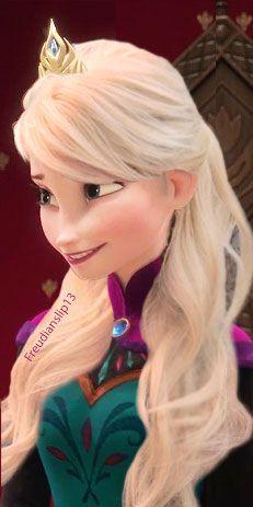 Elsa Con El Cabello Suelto Con Imagenes Princesas Disney Elsa