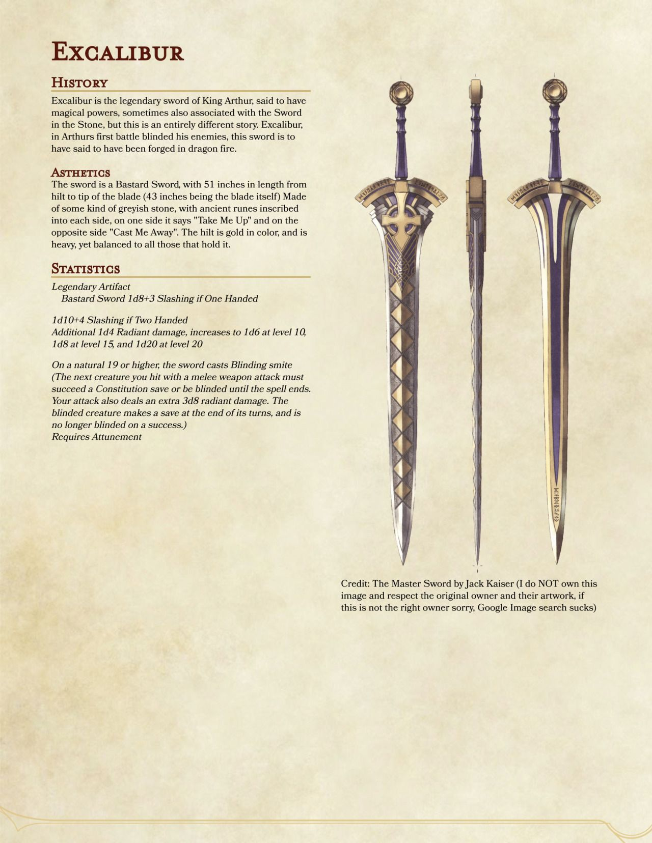 Welcome to the Hoard! This is a collection of Homebrew DND items for