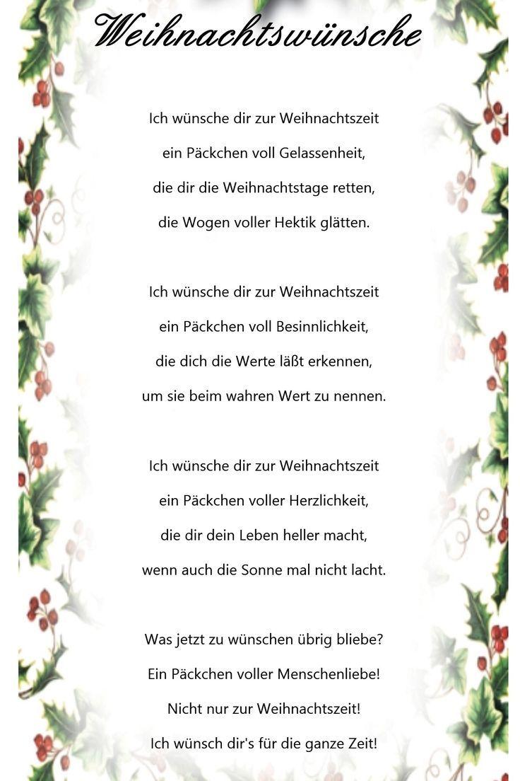 Wunsche zu weihnachten und neues jahr gedichte