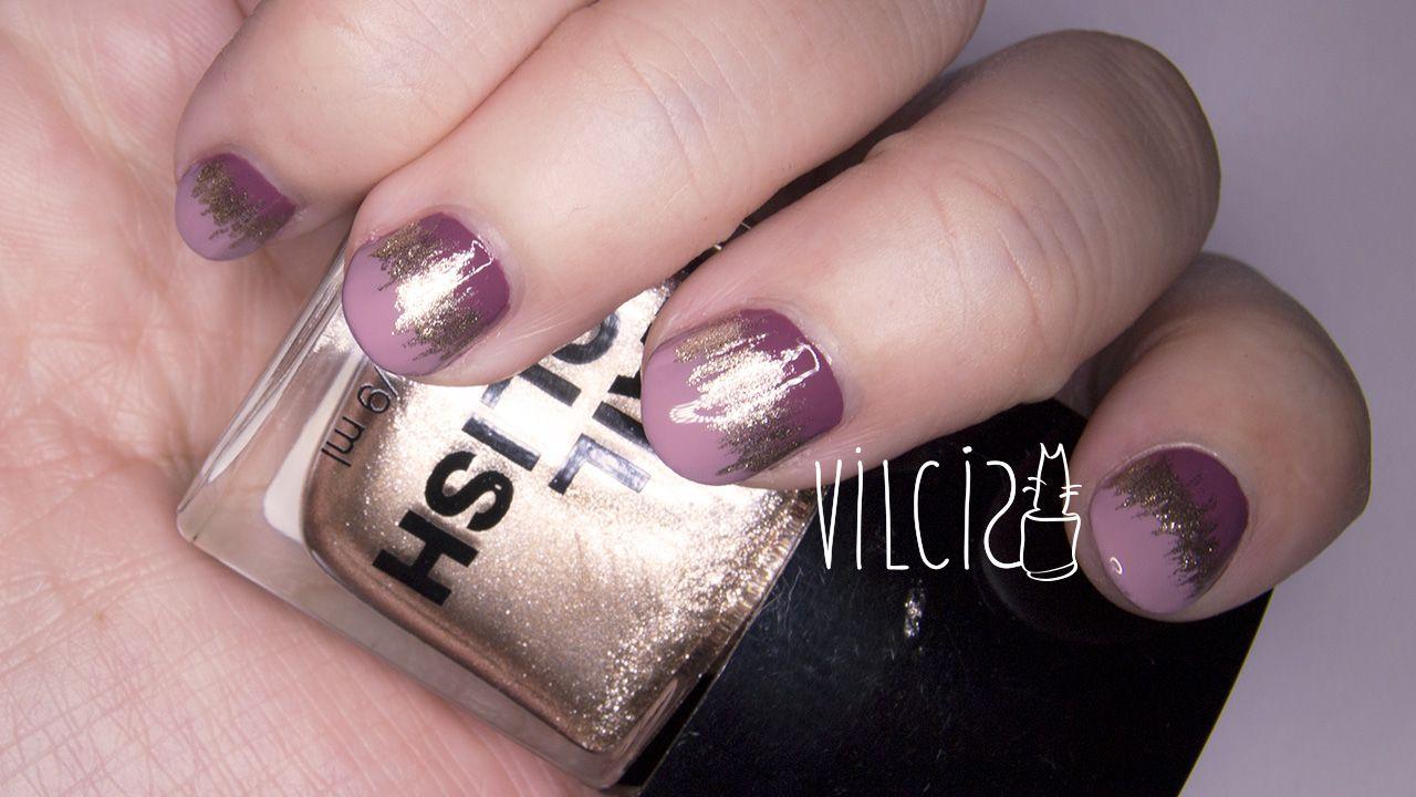 Super easy and quick nail design for short nails. Diseño de uñas ...