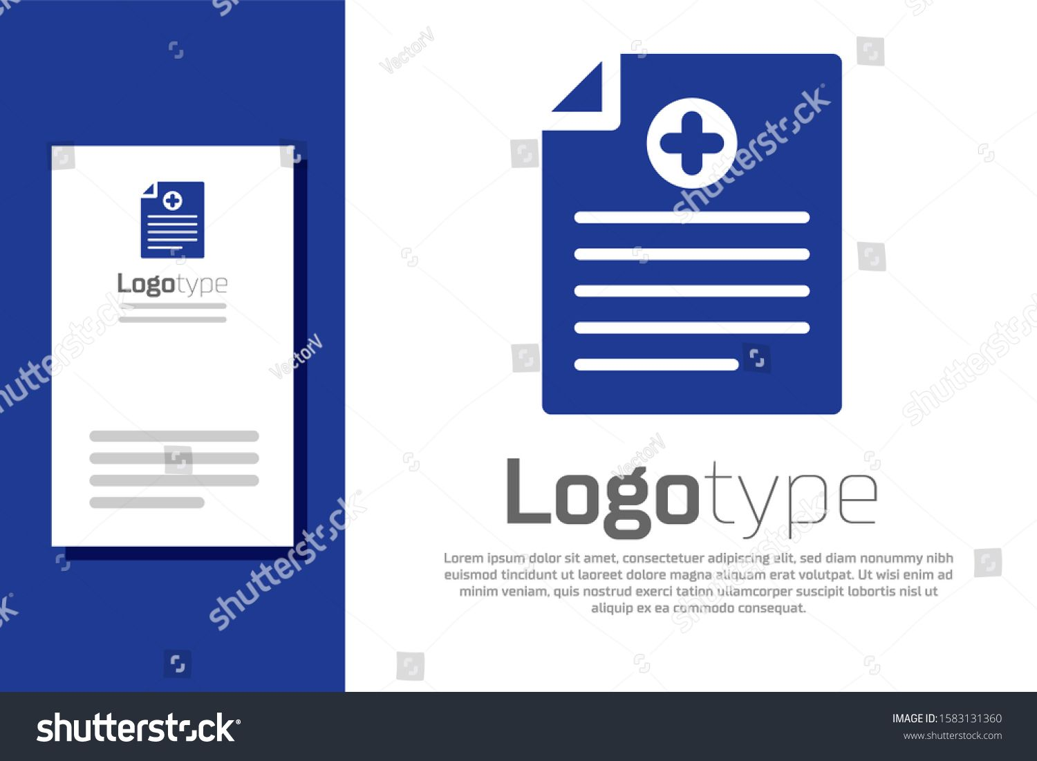 Blue Medical Clipboard With Clinical Record Icon Isolated On White