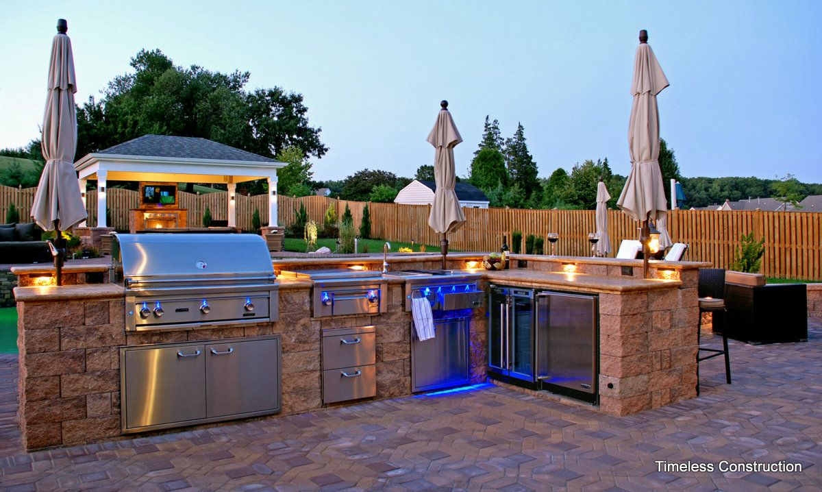 free plans building outdoor kitchen how to build an outdoor rh pinterest com