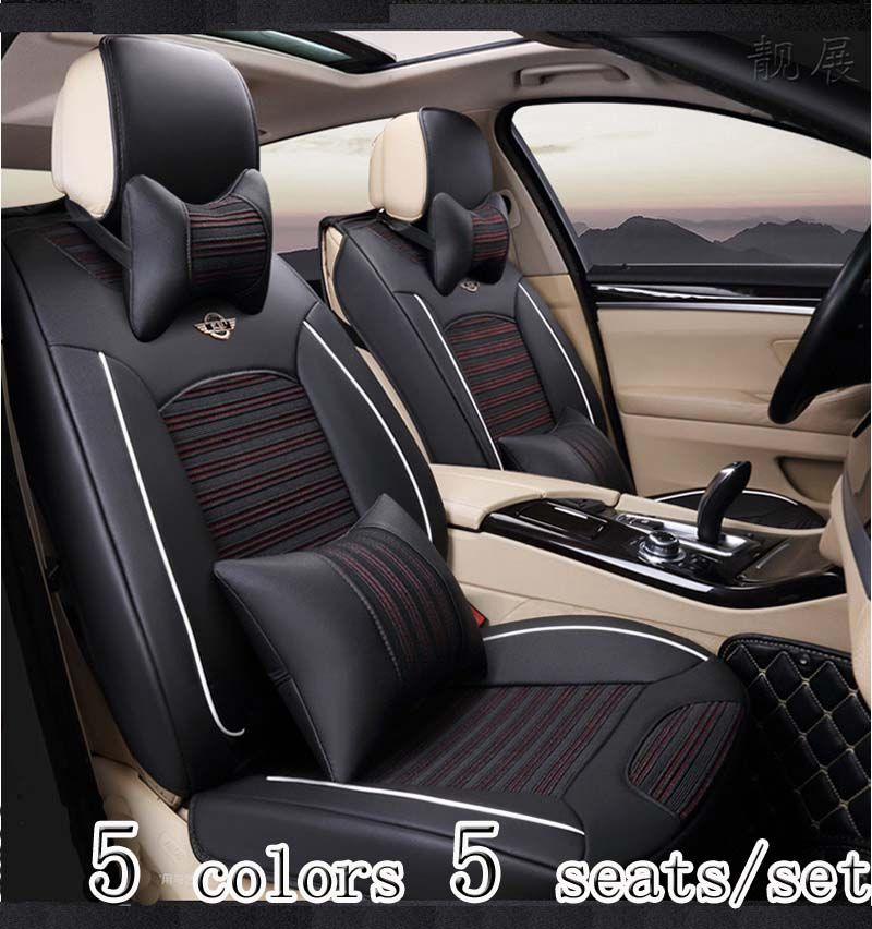 5 Pcs Set Car Seat Cover All Seasons Which Is Suitable For Various Types Of Car Seat Covers Ice Combination Af Car Seats Interior Accessories Carseat Cover