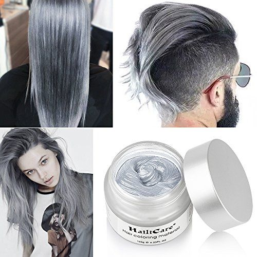 Hailicare Silver Grey Hair Wax 4 23 Oz Professional Hair Pomades Natural Silver Ash Matte Hairstyle Wax For Men W Hair Wax Grey Hair Wax Temporary Hair Color