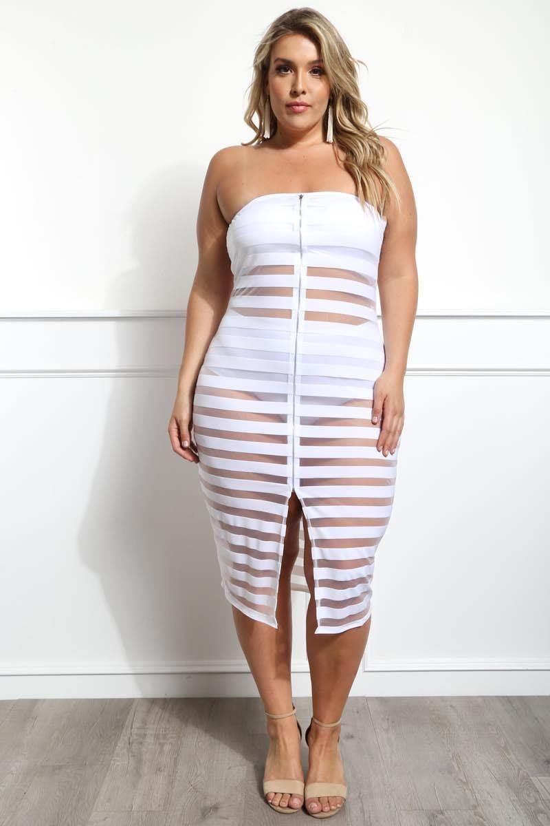 CRYSTAL DESIRE PLUS SIZE SHEER DRESS, $26.99 gslovesme.com ...