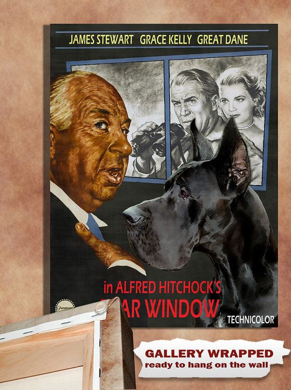 Great Dane Vintage Movie Style Poster Canvas Print By Nobilitydogs