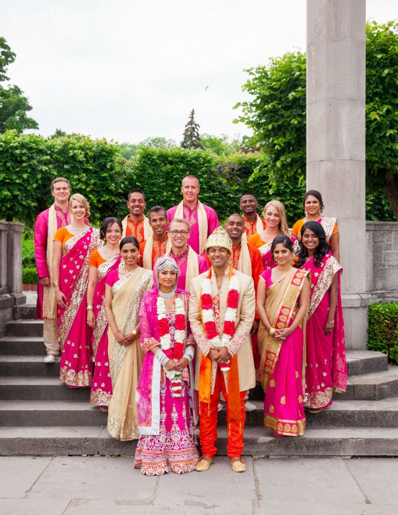 Vibrant Indian Wedding By The Falls Elegant