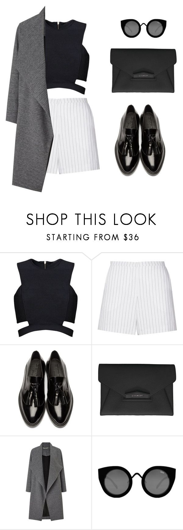 """""""Minimal #2"""" by amlhrs ❤ liked on Polyvore featuring moda, Posh Girl, Sandro, Burberry, Givenchy, Miss Selfridge, Quay y contemporary"""