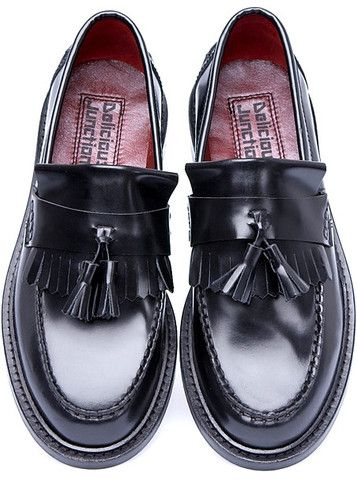 Shoes Men's Loafers Rude Boy Black Suedehead Delicious Junction