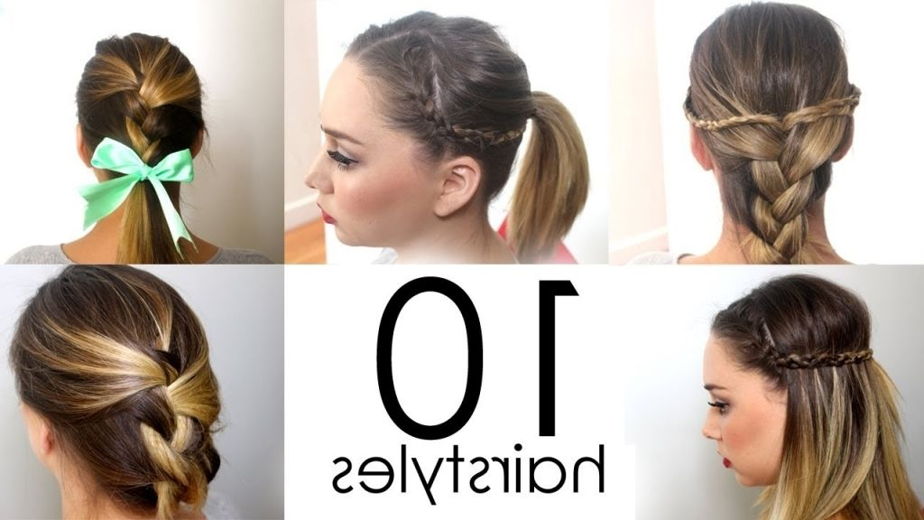 Diy Hairstyle For Medium Hair Quick Easy Everyday Hairstyles In Utes Youtube Easy Everyday Hairstyles Everyday Hairstyles Diy Hairstyles