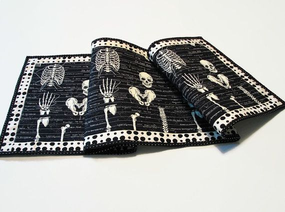 Glow-in-the-Dark Halloween Table Runner by CentralFabrications
