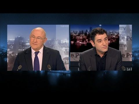 Politique - BFM Politique : Michel Sapin face à Hugues Desnoyers - http://pouvoirpolitique.com/bfm-politique-michel-sapin-face-a-hugues-desnoyers/