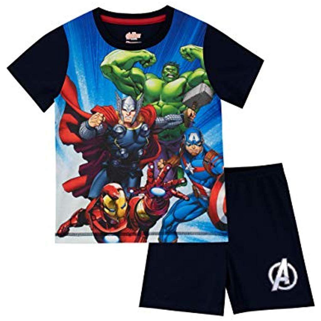 Marvel Avengers Pijamas De Manga Corta Para Ninos Vengadores Ropa