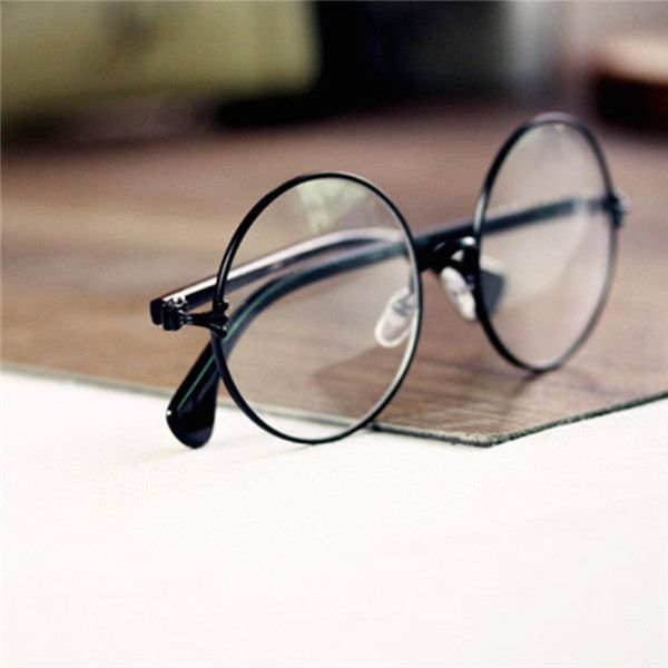 dbbd9bcf1f Retro Unisex Round Metal Frame Glasses Clear Lens Glasses Eyeglass Eyewear  Unisex