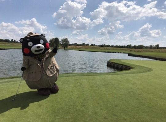 Japanese mascots like Kumamon might be more human than us. Activities include * go golfing * take