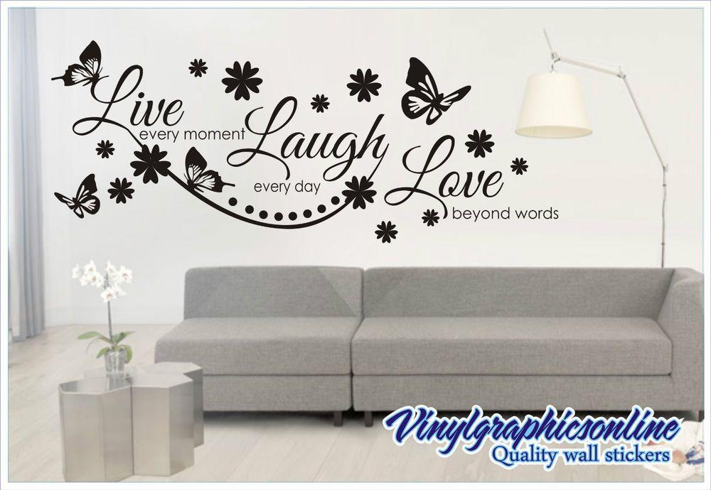Live Laugh Love Wall Quote Sticker