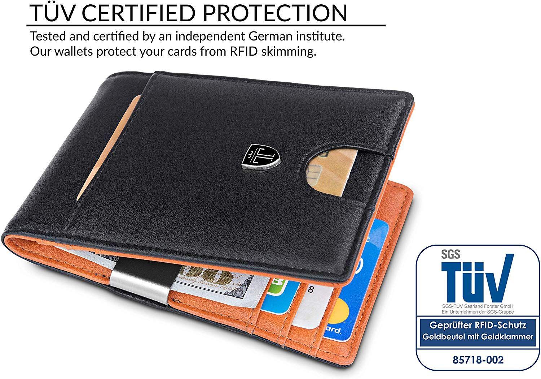Men Wallets Slim Mini Front Pocket Bifold Holder Leather Wallet