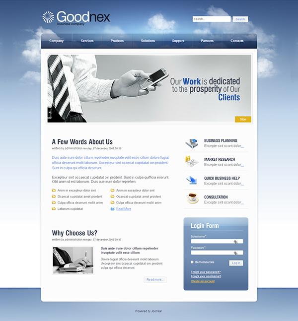 Good Ideas Flash Animated Joomla Template on Behance | Joomla ...
