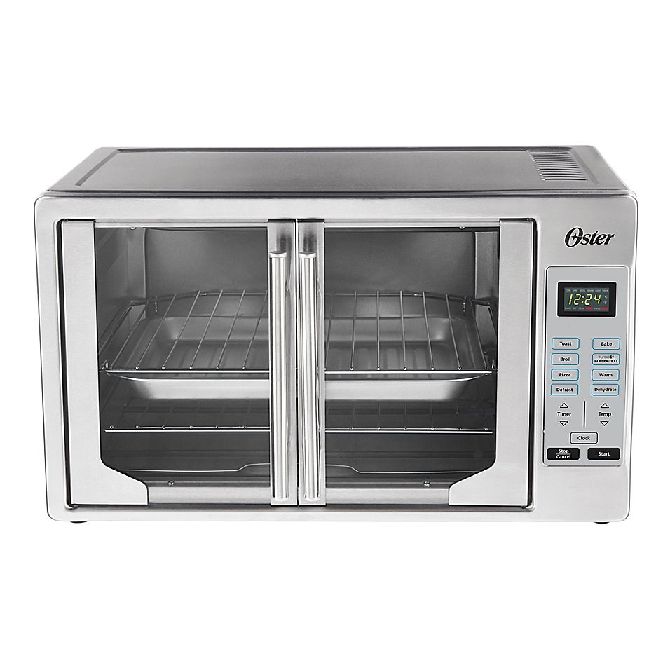 Oster Digital French Door Stainless Steel Oven Brushed Stainless