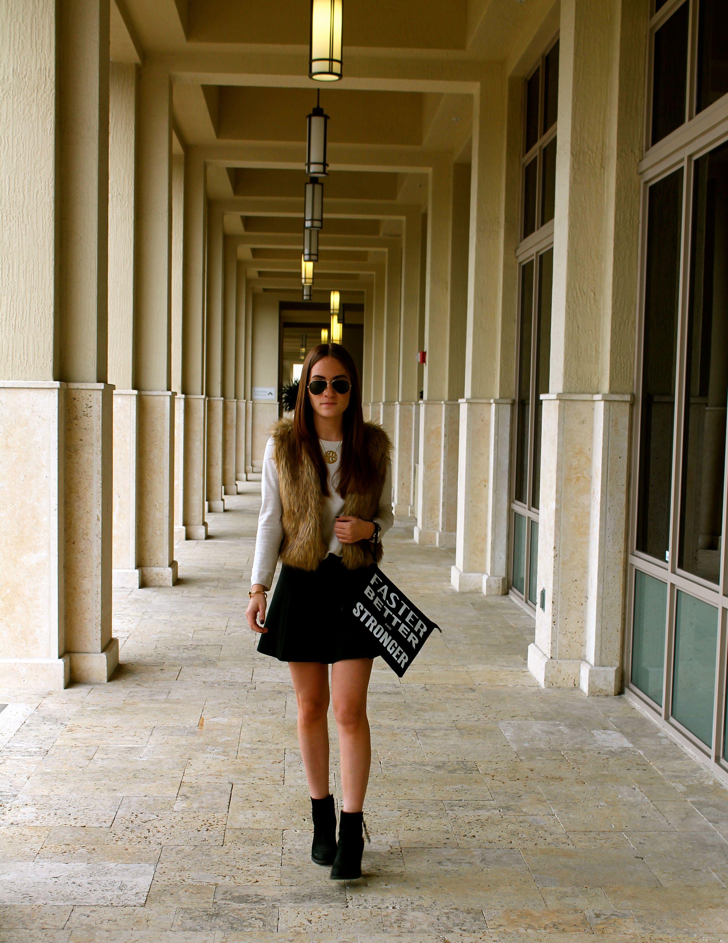 #fashion #blogger #fashionblogger #stylebytwo #fur #furvest #zara #circleskirt #stevemadden #booties #fasterbetterstronger #clutch #rayban #michaelkors #davidyurman
