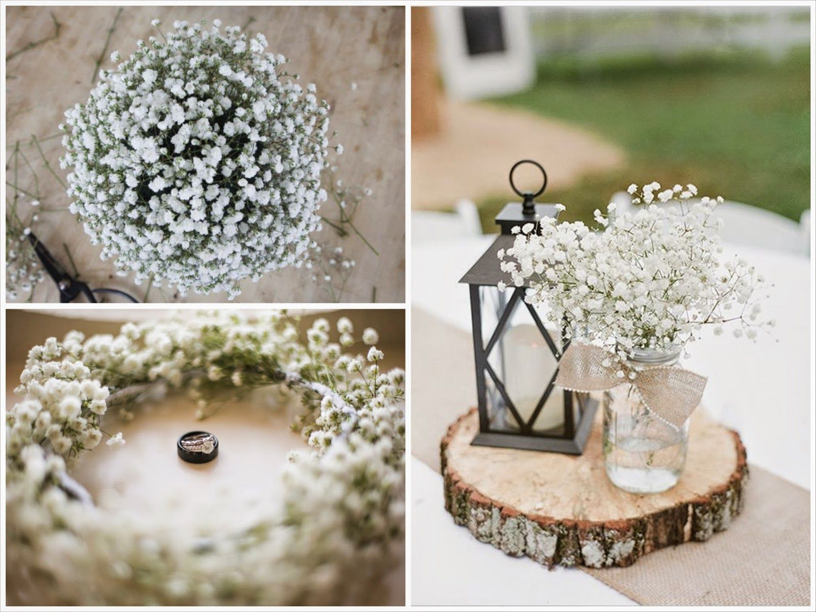 Decoraci n de boda con paniculata centros de mesa flores - Mesa de navidad elegante ...