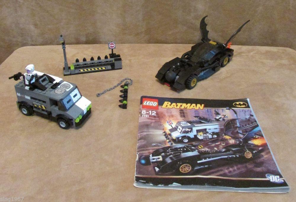 7781 Lego Complete Batman The Batmobile Two Faces Escape Minifigs