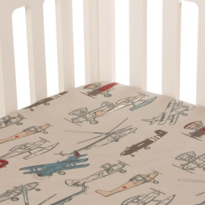 glenna jean flyby airplane fitted crib sheet