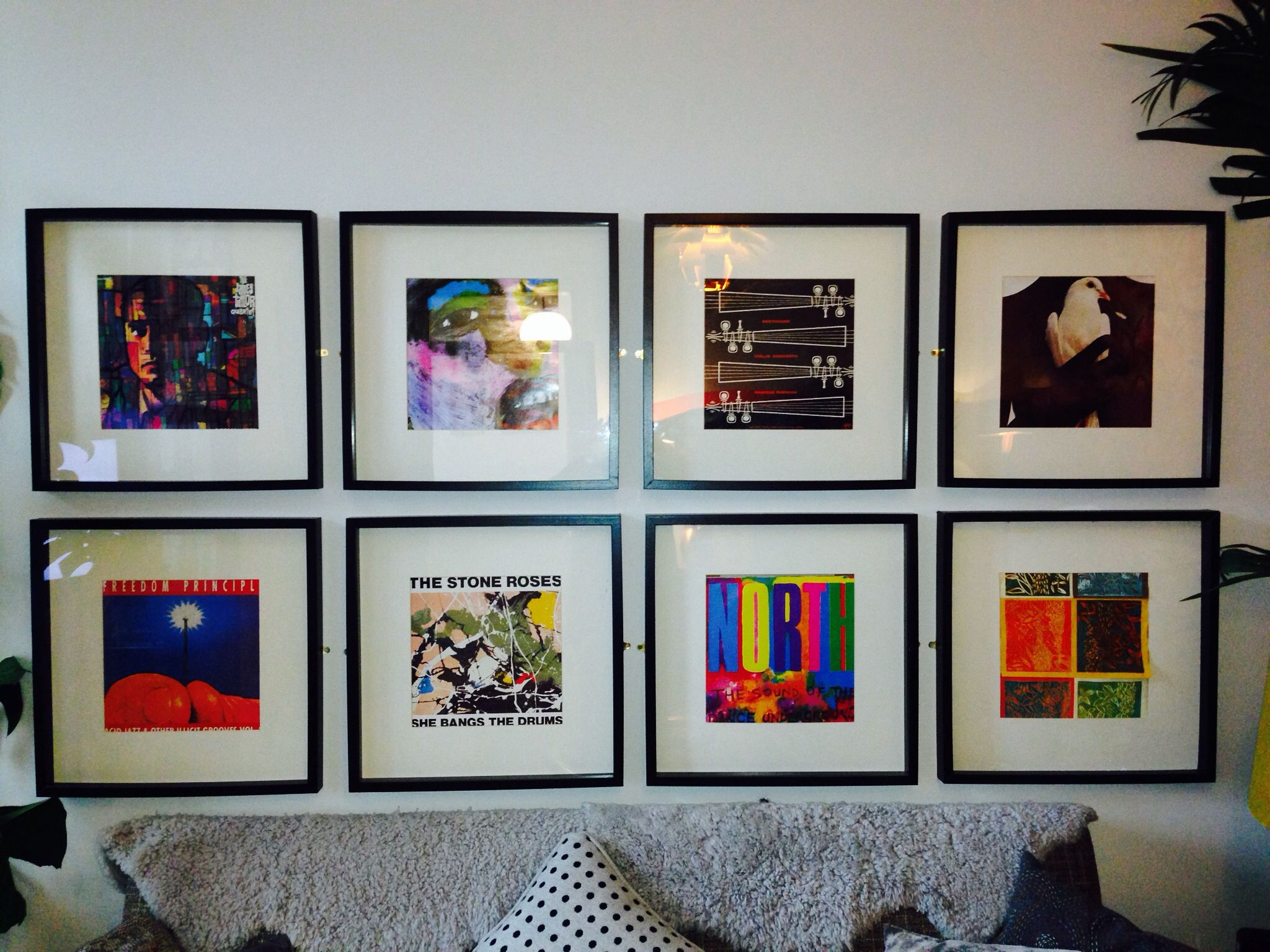 record covers in blk ikea frame pop colours pinterest room and house. Black Bedroom Furniture Sets. Home Design Ideas