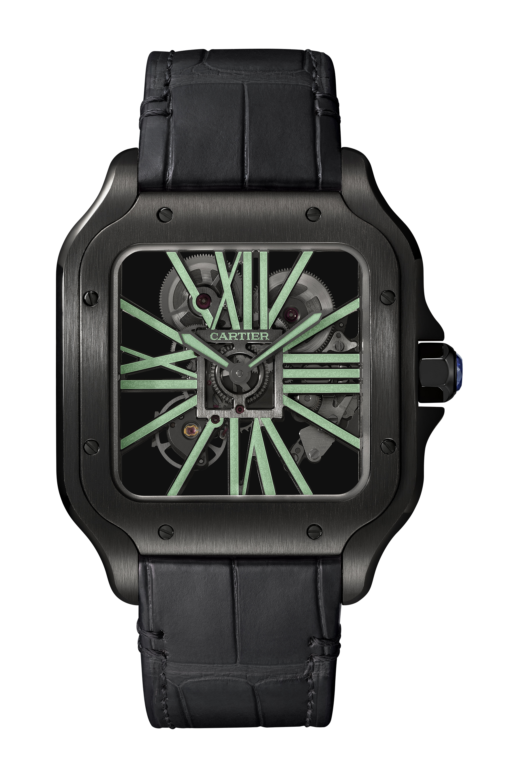 63c17c9f92c Cartier Grows the Santos Collection With Chronographs and a Luminous ...