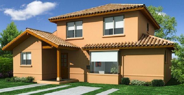 fachada casa de dos pisos de 137 m2 | planos | pinterest | casa de