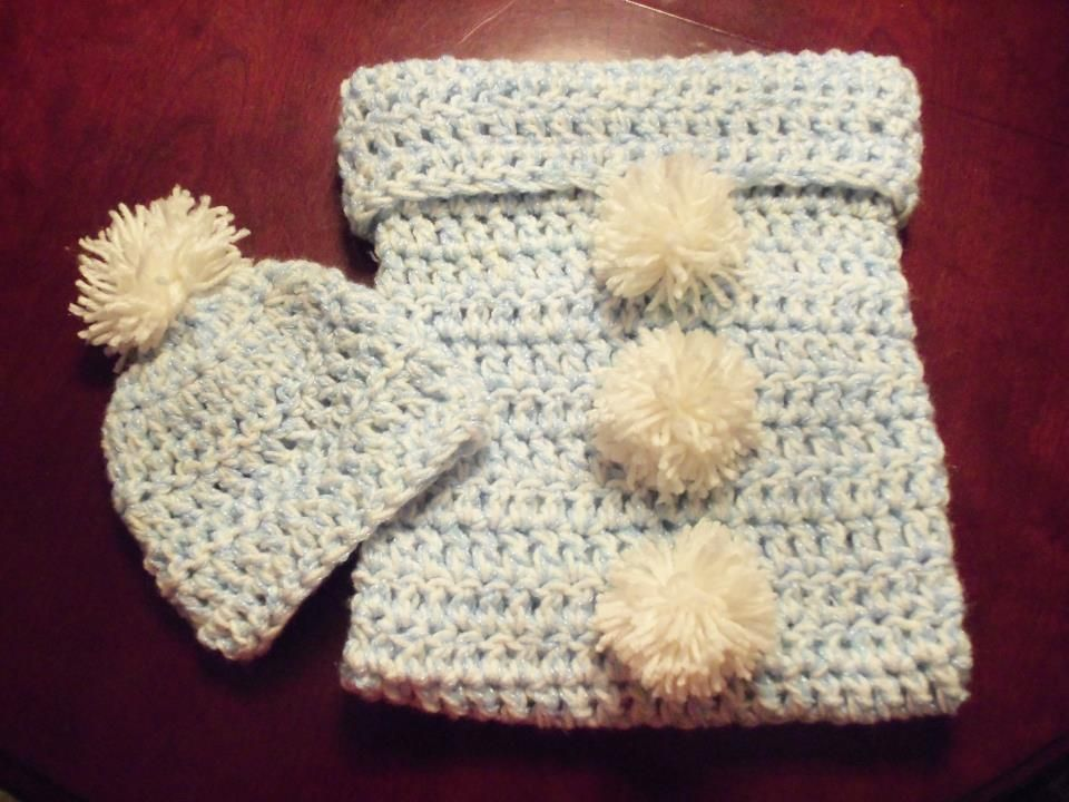 Crochet Newborn Baby Cacoon set. I got the tutorial here http://www ...