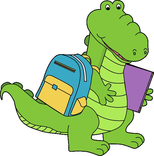 Alligator Going To School School Images School Alligator