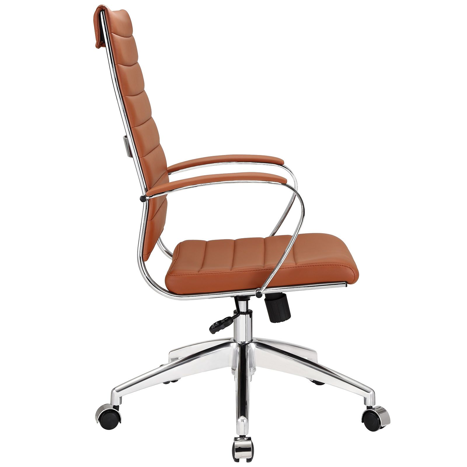 Leather Office Chairs Catania Brown With Glider Moderne Burostuhle Burostuhl Stuhl Leder