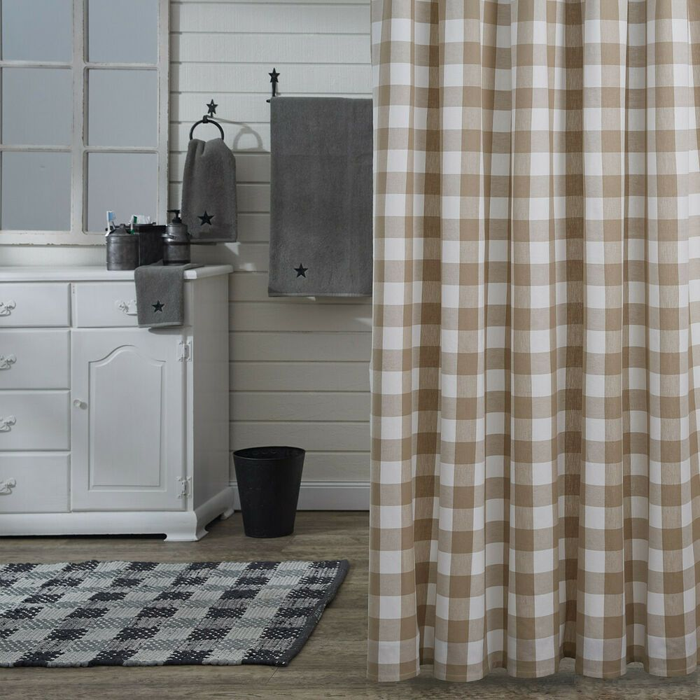 Details About Shower Curtain Natural Tan Creamy White Buffalo