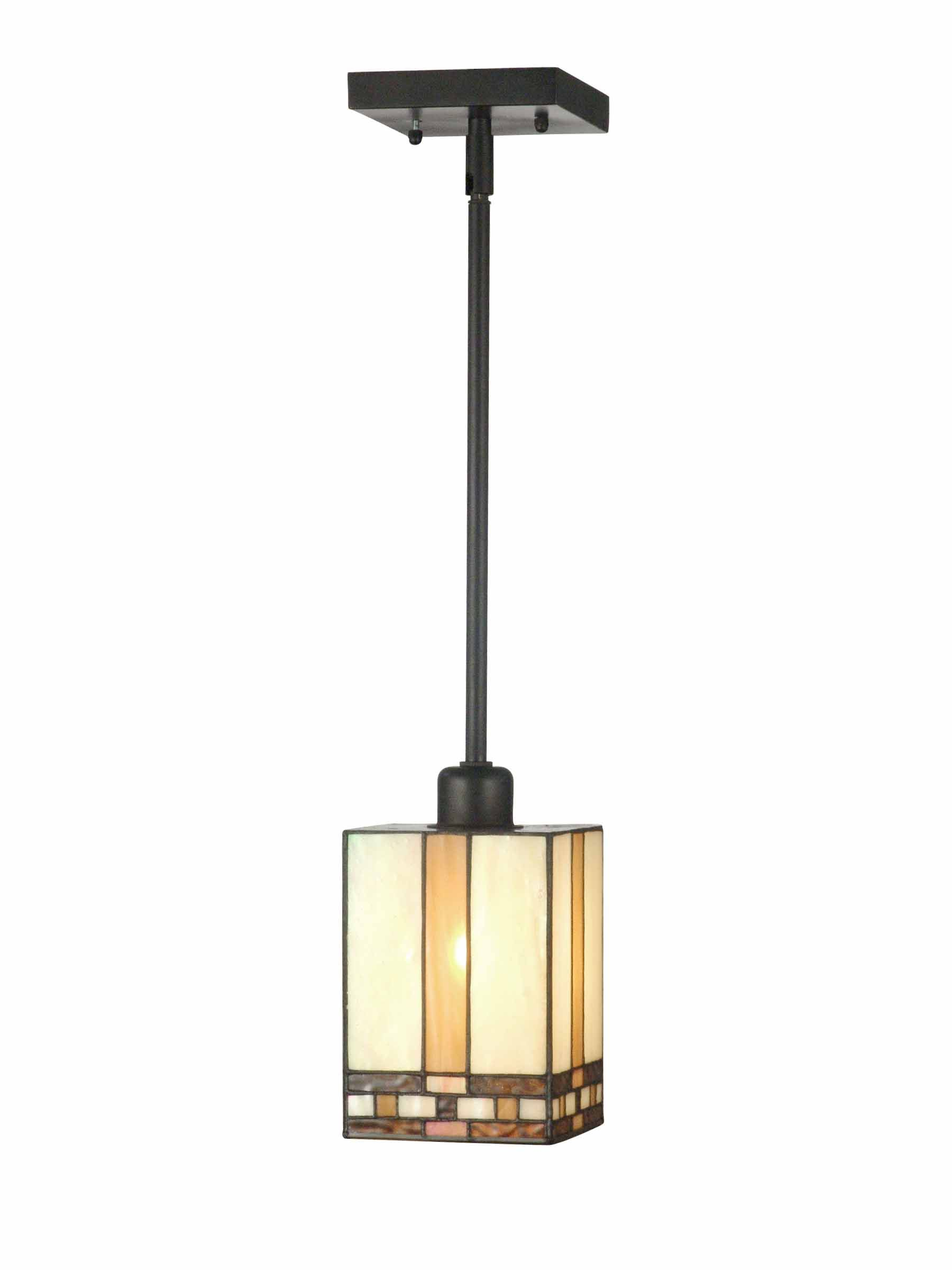 Springdale Chatfield Mission Tiffany Mini Pendant Beige Tan In 2021 Mini Pendant Ceiling Pendant Lights Craftsman Lighting