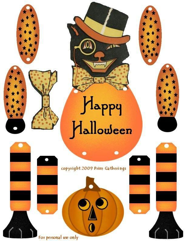 FREE Halloween PRINTABLE TO ASSEMBLE AND HANG UP #Halloween