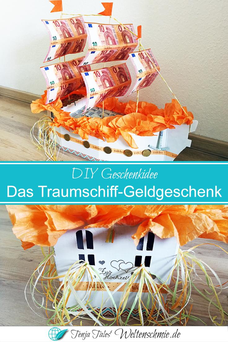 Ein Traumschiff-Geldgeschenk zur Hochzeit · Weltenschmie.de Blog