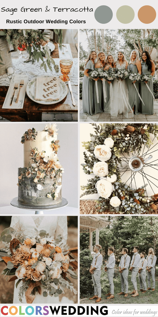 Best 8 Rustic Outdoor Wedding Color Ideas
