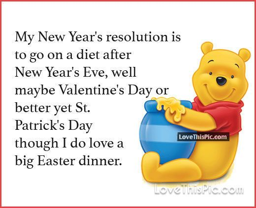 My New Years Resolution Winnie The Pooh Quote Good Morning Days