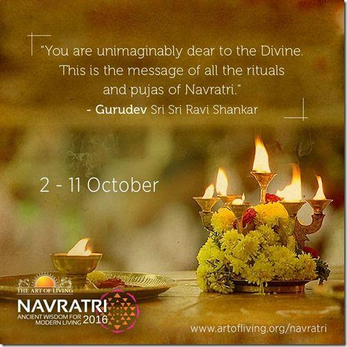 Significance Of Navratri Art Of Living Navratri Life Quotes