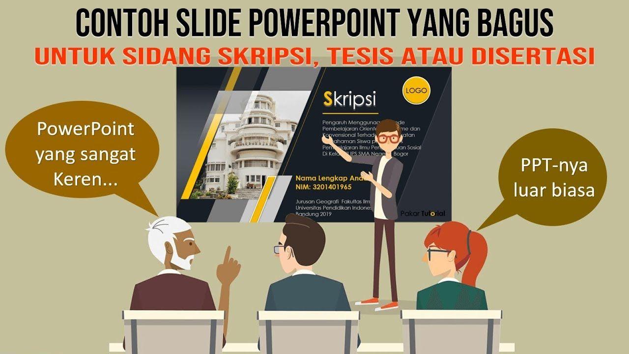 Contoh Power Point Yang Bagus Untuk Sidang Skripsi Dan Tesis Pemandangan Khayalan Tesis Pengikut