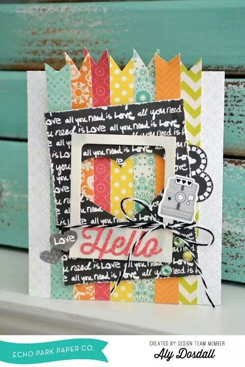 Love this card! Echo Park Paper post on facebook
