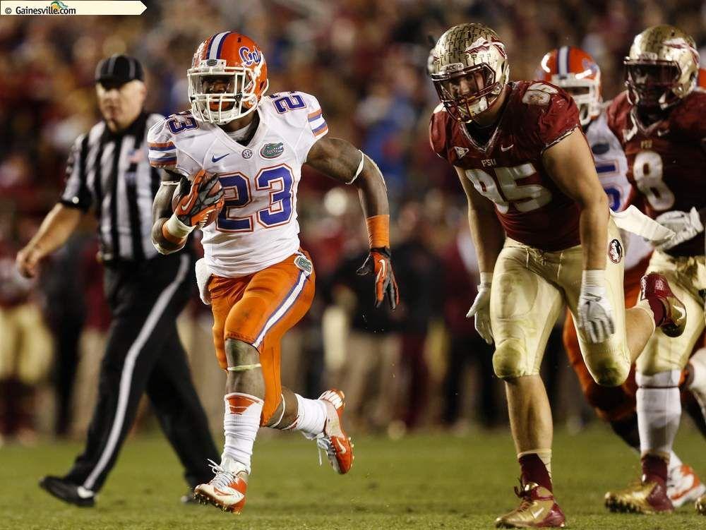 Florida running back mike gillislee breaks free for a