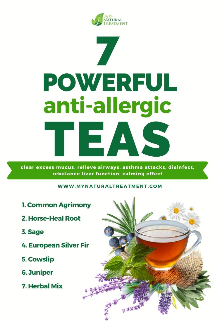 7 Powerful Anti Allergic Teas Natural Antihistamine Natural Remedies For Allergies Home Remedies For Allergies