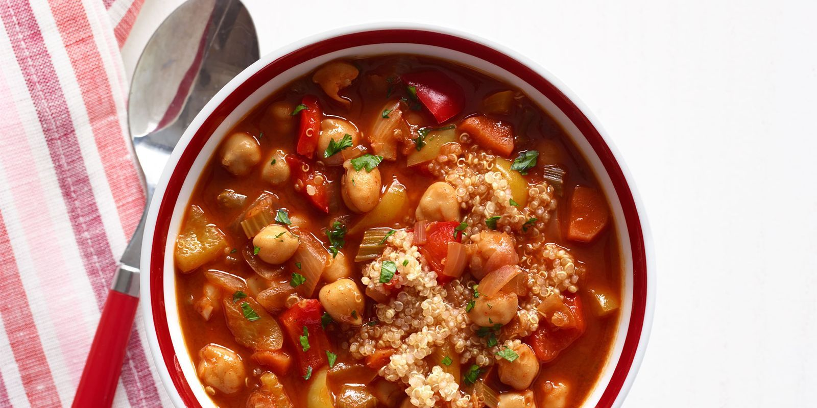 Chickpea and red pepper soup with quinoa recipe quinoa red chickpea and red pepper soup with quinoa forumfinder Choice Image