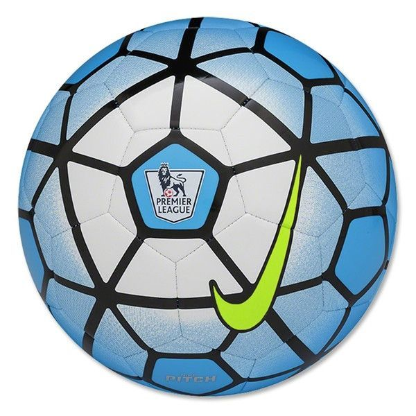 Nike Pitch Pl Soccer Ball Blue Lagoon White Black Hyper Pink Soccer Ball Premier League Soccer Nike Soccer Ball