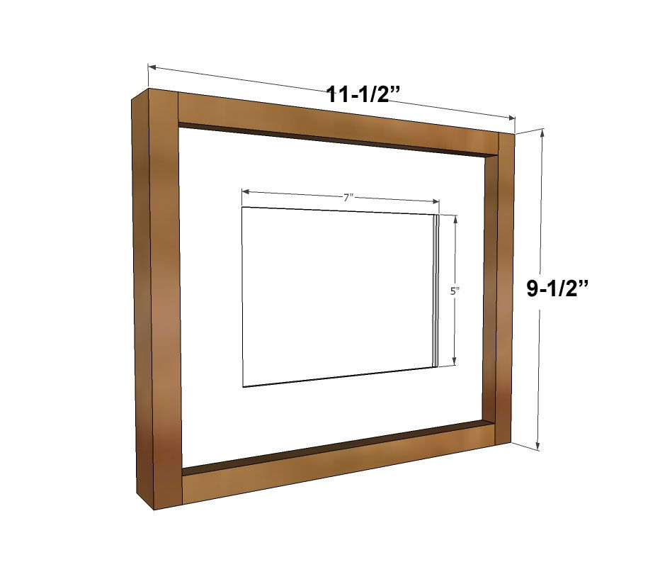 Simple Wood Gallery Frame Plans Wood Picture Frames Ana White Diy Furniture Plans