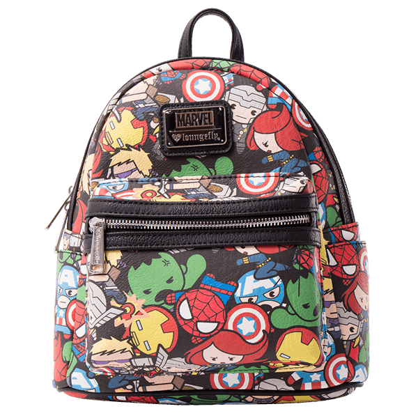 Marvel - The Avengers Kawaii Loungefly Mini Backpack - ZiNG Pop Culture 638eba8ea9f10